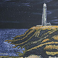 Pigeon Lighthouse Night Scumbling Complementary Colors by Ian Donley