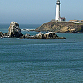 Pigeon Point Lighthouse Near Half Moon Bay-san Francisco by Suzanne Gaff
