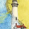 Pigeon Pt Lighthouse Ca Nautical Chart Map Art by Cathy Peek