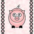 Piggy - Animals - Art For Kids by Anastasiya Malakhova