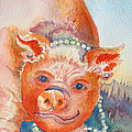 Piggy In Pearls by Deb  Harclerode