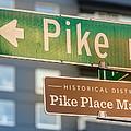 Pike Place Market Sign by Steve Gadomski