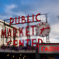 Pike Place Public Market Neon Sign by Scott Campbell