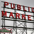 Pike Place Public Market Sign by Tap On Photo