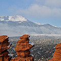Pikes Peak In The Clouds by Ronda Kimbrow
