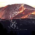 Pikes Peak Sunrise Close-up by Marilyn Burton
