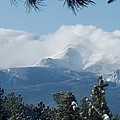 Pikes Peak Under The Clouds by Marilyn Burton