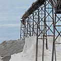 Pile Of Sea Salt Under Conveyor Of Saline Refinery by Stephan Pietzko
