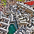 Piles Of Engines - Automotive Recycling by Crystal Harman