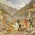 Pilgrims At Gangootree, From India by William 'Crimea' Simpson