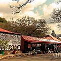 Pilgrims Hotel And Stalls by Lisa Byrne