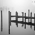 Pilings In The Fog by Brian Wallace