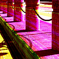 Pillars And Chains - Color Rays by Shawna Rowe