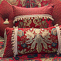 Pillows In Red by Amelia Painter