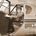 Pilot Amelia Earhart 1936 by Padre Art