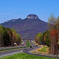 Pilot Mountain From Overlook by Kathryn Meyer