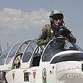 Pilot Standing In  A Socata Tb-30 by Timm Ziegenthaler