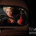 Pin Up Girl In A Classic Rat Rod Car by Jt PhotoDesign