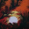Pine Branch Silhouette