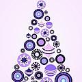 Pine Tree Ornaments - Purple by Anastasiya Malakhova