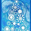 Pine Tree Snowflakes - Baby Blue by Anastasiya Malakhova
