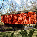 Pine Valley Covered Bridge In Bucks County Pa by Bill Cannon