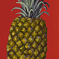 Pineapple On Red by Darice Machel McGuire
