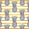 Pineapple Tropical Vector Seamless by Vavavka