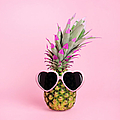 Pineapple Wearing Sunglasses by Juj Winn