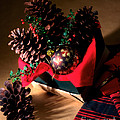 Pinecones Christmasbox by Iris Richardson