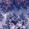 Pink And Blue Morning Frost Fractal by Rose Santuci-Sofranko
