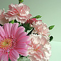 Pink And Green Floral by Ann Horn