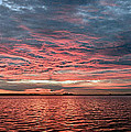 Pink And Grey At Sea - Sunrise Panorama  by Geoff Childs