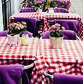Pink And Purple Dining by Patrycja Polechonska