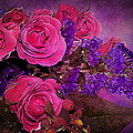 Pink And Purple Floral Bouquet by Phyllis Denton