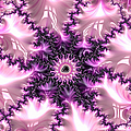 Pink And Purple Soft And Creamy Fractal Art by Matthias Hauser
