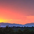 Pink Arc Above The Blue Ridge by Nathaniel Kidd