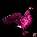 Pink Canada Goose Pop Art - 7585 - Bb  by James Ahn