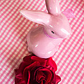 Pink Easter Bunny Decoration by Matthias Hauser