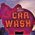 Pink Elephant Car Wash by Benjamin Yeager