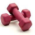 Pink Fixed-weight Dumbbells by Fabrizio Troiani
