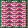 Pink Flower Petal Based Crystal Beads In Sync Wave Pattern by Navin Joshi