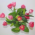 Pink  Flowers by Carl Deaville