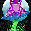 Pink Frog And Blue Moon by Nick Gustafson