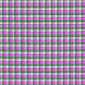 Pink Green And White Plaid Pattern Cloth Background by Keith Webber Jr