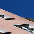 Pink House In Front Of A Blue Sky by Nick  Biemans