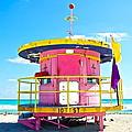 Pink Lifeguard Post by Galexa Ch