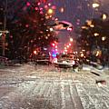 Pink Lights In Snowtrax by Rosie McCobb