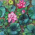 Pink Lillies by Betty Glanville