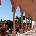Pink Marble Colonnade by Christiane Schulze Art And Photography